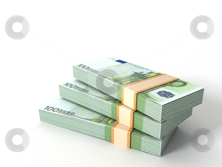 Currency bundles stack stock photo, Three dimensional currency bundles stack by Imagery Majestic
