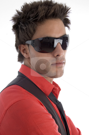 Young model with sunglasses stock photo, Young model with sunglasses with white background by Imagery Majestic