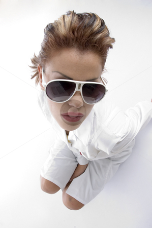 High angle view of doctor with eyewear stock photo, High angle view of doctor with eyewear on an isolated background by Imagery Majestic