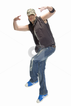 Casual man doing dance stock photo, Casual man doing dance by Imagery Majestic