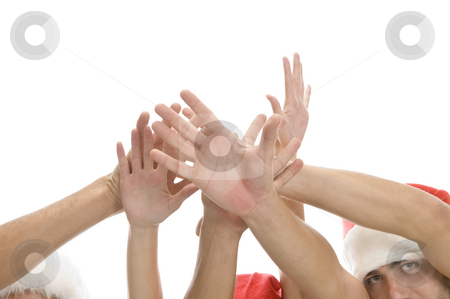Raised hands of people stock photo, Raised hands of people on an isolated background by Imagery Majestic