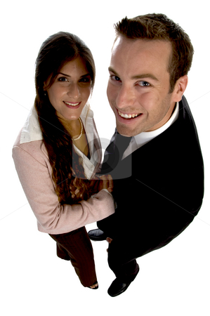 Confident handshake stock photo, Confident handshake against white background by Imagery Majestic