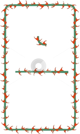 Rose Thorns Border stock vector clipart, This illustration is of a border made of rose thorns. it is scalable by Fowzan Ahmed
