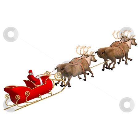 Render of Santa Claus - Merry Xmas stock photo, Render of Santa Claus - Merry Xmas. Image contains clipping path by Ralf Kraft