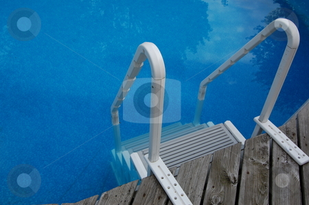 Pool Ladder stock photo, A pool ladder by Crystal Srock