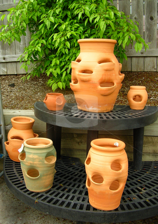 Flower Pots stock photo, A group of terra cotta flower pots by Crystal Srock