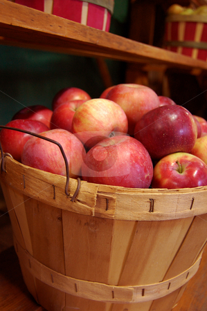 Basket of Apples stock photo, A basket of bright red apples by Crystal Srock