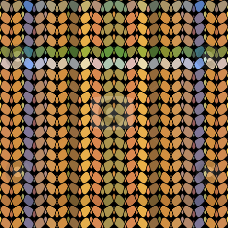 Abstract tartan pattern stock photo, Texture of many warm color abstract shapes by Wino Evertz