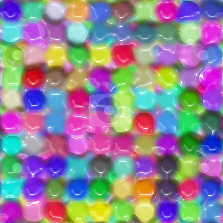 Waxy color pattern stock photo, Texture of bright imprinted round color dots by Wino Evertz