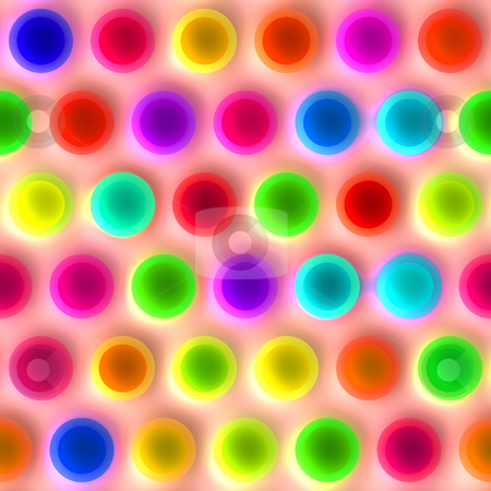 Very bright spots pattern stock photo, Seamless texture of very bright neon colored spots by Wino Evertz