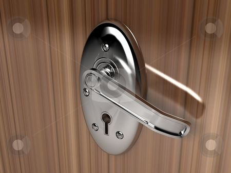 Door locker stock photo, Door locker on isolated background by Imagery Majestic