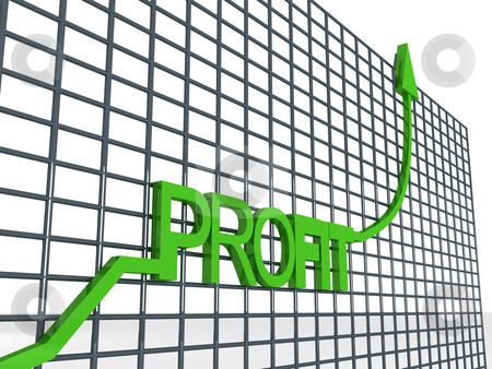 Graph showing profit stock photo, Side view of three dimentional profit graph by Imagery Majestic