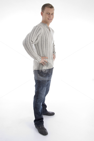 Standing handsome man stock photo, Standing handsome man on an isolated white background by Imagery Majestic