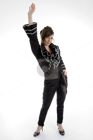 Standing sexy woman stock photo, Standing sexy woman on an isolated white background by Imagery Majestic