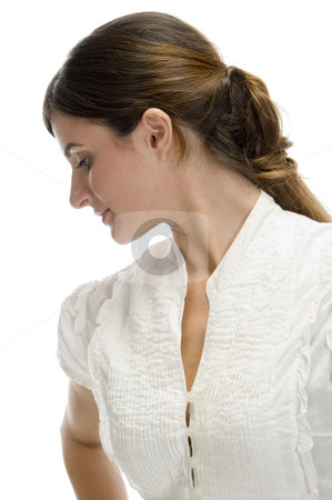 Close up young lady stock photo, Close up young lady on an isolated background by Imagery Majestic