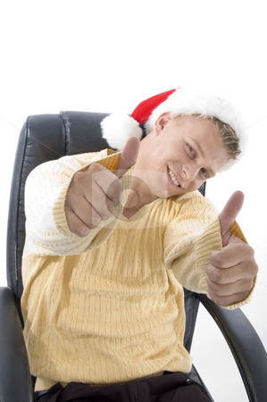 Man showing both thumbs up stock photo, Man showing both thumbs up on an isolated background by Imagery Majestic