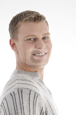 Portrait of handsome man stock photo, Portrait of handsome man on an isolated background by Imagery Majestic