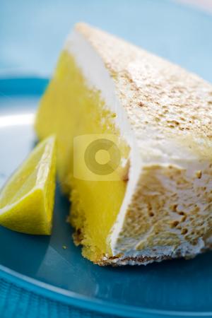 Lemon pie stock photo, Closeup of lemon pie, shallow dof by Liv Friis-Larsen