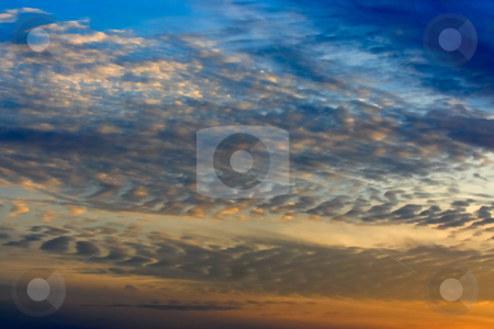 Sky and Altocumulus Clouds stock photo, An evening sky with altocumulus clouds by Stephen Bonk