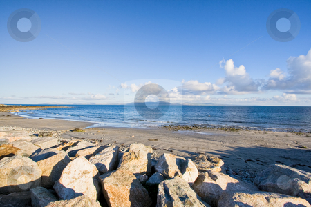 Galway Bay stock photo, Galway Bay in Ireland. The Burren can be seen in the distance. by Stephen Bonk