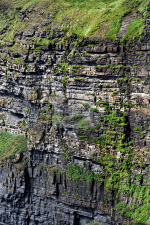 Cliff Face stock photo, Cliff face of the Cliffs of Moher in Ireland by Stephen Bonk
