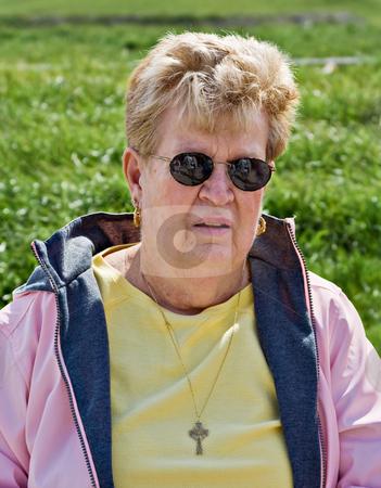 Senior Woman Portrait stock photo, Portrait of a healthy senior citizen by Stephen Bonk