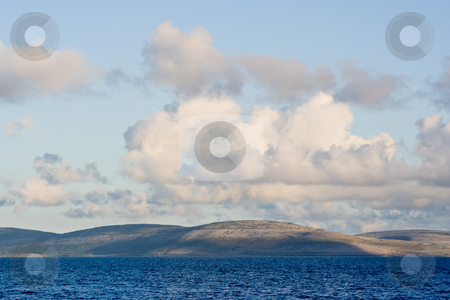 Galway Bay and Burren stock photo, Galway Bay in Ireland from County Clarel with The Burren across the bay. by Stephen Bonk