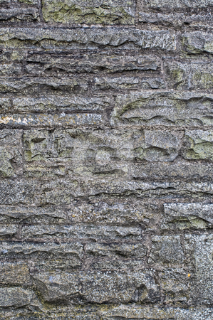 Stone Wall stock photo, A stone wall that can be used as as background by Stephen Bonk