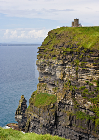 O'Briens Tower stock photo, O'Briens Tower on top of The Cliffs of Moher in County Clare, Ireland by Stephen Bonk