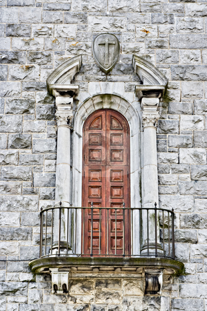 Church Balcony stock photo, A balcony and door in a cathedral by Stephen Bonk