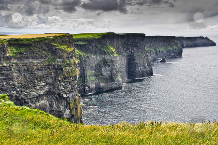 Cliffs of Moher stock photo, The Cliffs of Moher in western Ireland by Stephen Bonk