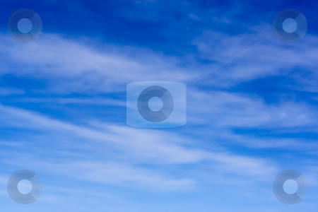 Sky and Cirrus Clouds stock photo, Blue sky and high level cirrus clouds by Stephen Bonk