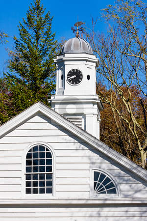 Old Church stock photo, An old, restored church in Allaire Village, New Jersey. Allaire village was a bog iron industry town in New Jersey during the early 19th century. by Stephen Bonk