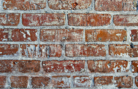 Red Brick Background stock photo, Red brick wall showing detail, patterns, and texture by Stephen Bonk