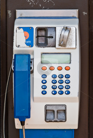 European Payphone stock photo, A public payphone in Europe. This particular phonebooth was found in Galway City, Ireland. by Stephen Bonk