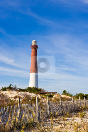 Barnegat Lighthouse stock photo, Barnegat Lighthouse in Barnegat Lighthouse State Park on Long Beach Island in New Jersey. This lighthouse in nicknamed