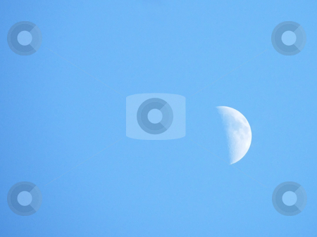 Day Moon stock photo, Day Moon in the Mid-Winter Sky. by Dazz Lee Photography