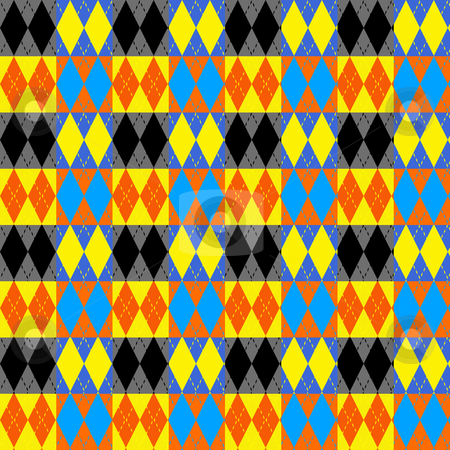 Harlequin checks pattern stock photo, Texture of bright checks paired in cubes by Wino Evertz