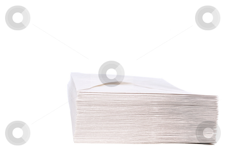 A stack of  envelopes with space for copy stock photo, A stack of envelopes with space for copy by Vince Clements