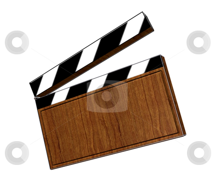 Clapperboard stock photo, 3d, clapperboard, cut, action, act, shoot, entertainment, film by Fabian Kerbusch