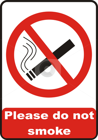 No Smoking Sign stock vector clipart, No smoking symbol isolated on white background by Tudor Antonel adrian