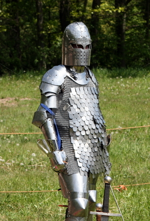 Knight in Shining Armor stock photo, A knight in shining armor by Tom and Beth Pulsipher