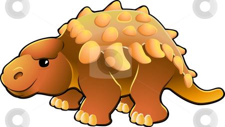 Cute Friendly Dinosaur stock vector clipart, A vector illustration of a cute friendly dinosaur by Christos Georghiou
