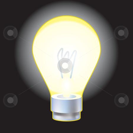 Light bulb stock vector clipart, A vector illustration of a light bulb by Christos Georghiou