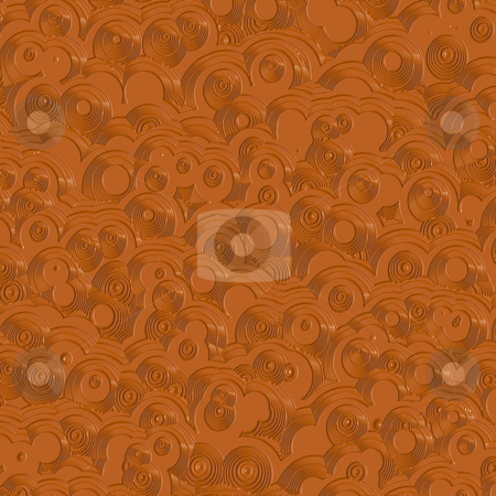 Brown glossy retro ring pattern stock photo, Seamless shiny 3d texture of plastic brown rings by Wino Evertz