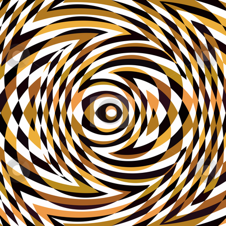 Brown puzzle pattern stock photo, Texture of swirly circles in brown, black and white by Wino Evertz