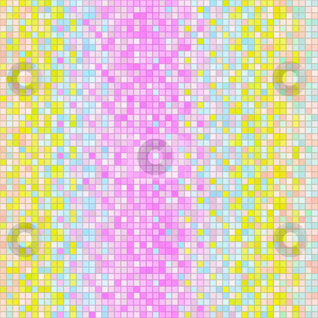 Pastel cube pattern stock photo, Texture of many squares with pastel motive on white by Wino Evertz