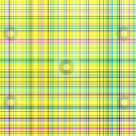 Light tartan pattern stock photo, Seamless texture of detailled woven tartan in bright yellow by Wino Evertz