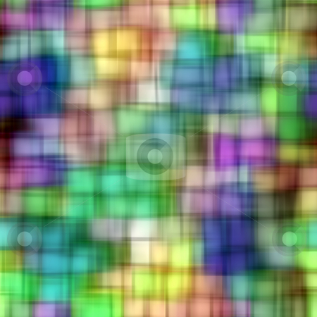 Blur squares pattern stock photo, Pattern of blurred cubes in bright colors by Wino Evertz