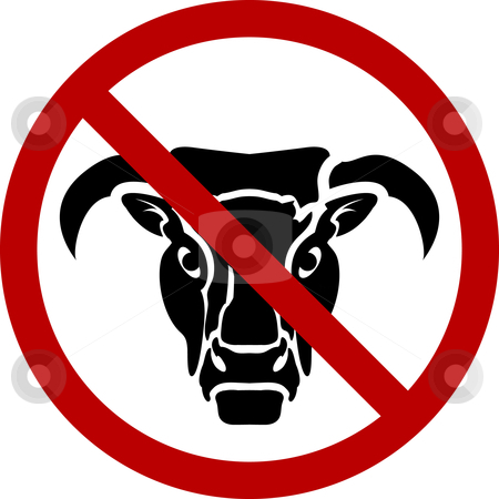 No bull stock vector clipart, A  by Christos Georghiou